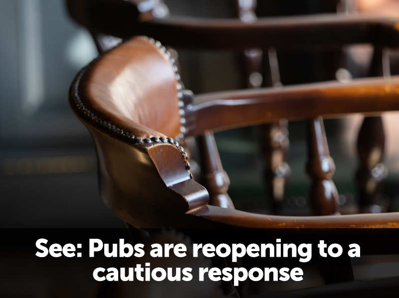 Pubs reopen to a cautious reception