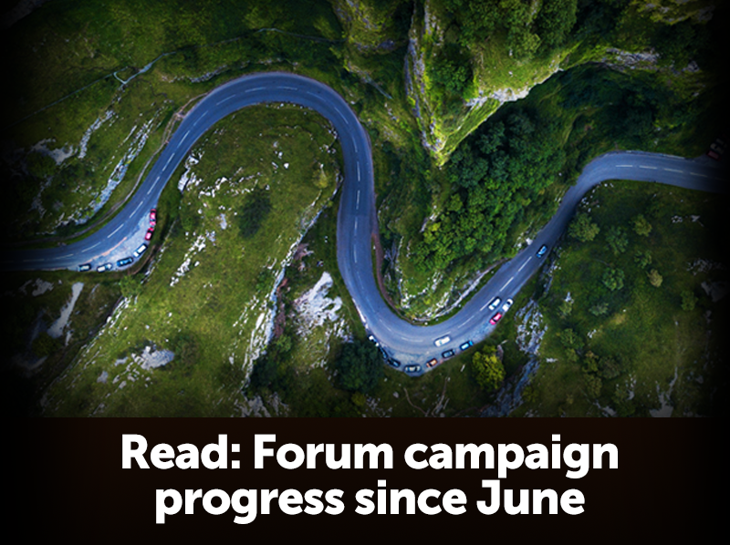 The Forum's campaign progress since June