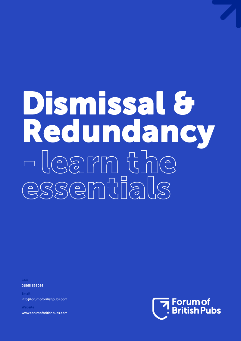 Dismissal and redundancy guide for hospitality