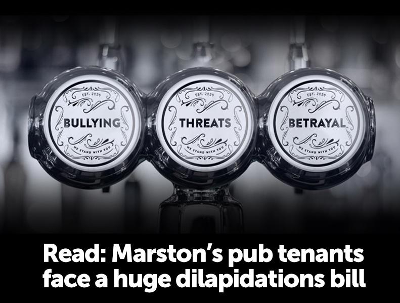 Marston's pub tenants face huge dilpidations bill